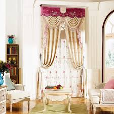 Floral Jacquard Curtains Beige Floral Jacquard Polyester Blackout Living Room Curtains No