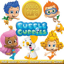17 high quality bubble guppies clip art diy instant download