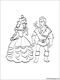 gaston belle coloring coloring pages