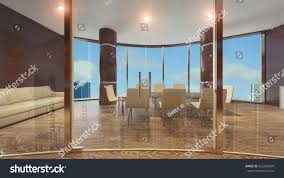 glass wall partition modern office stock illustration 655343035