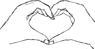 heart shaped hands coloring pages place color