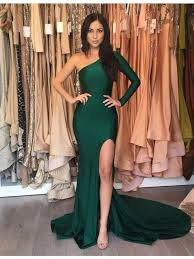 emerald green long mermaid prom dresses evening dress mermaid