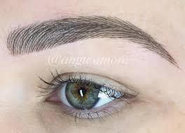 New Eyebrow Tattoo Technique Angie Simone Eyebrows Why Hello Beauty