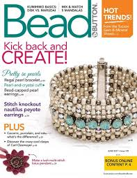 bead and button june 2017 beading magazines pinterest beads