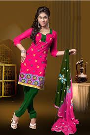 buy simple sarees printed cotton punjabi dress material gazal106
