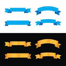 blue and gold ribbon blue and gold ribbon design vector premium