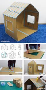 casa de carton plegable folding cardboard house diy papelisimo