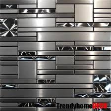 metal kitchen backsplash tiles silver metal mosaic stainless steel tile kitchen backsplash