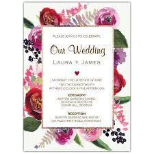 garden wedding invitations floral garden wedding invitations paperstyle