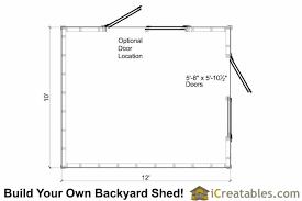 Storage Building Floor Plans 10x12 Large Shed Plans