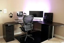 Galant Office Desk Simple Battlestation With Ikea Galant Bekant Desk In Black