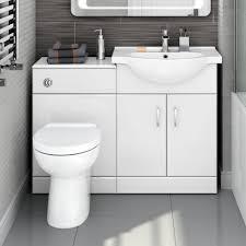 Combination Vanity Units For Bathrooms by 1700mm Quartz Combined Vanity Unit U0026 Straight Bath Suite Soak Com