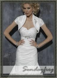 wedding dresses with bolero freeshipping sundayfrog arrival a line one shoulder beaded