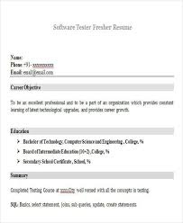 Manual Testing Fresher Resume Samples Sample Software Tester Resume Interesting Sample Resume For