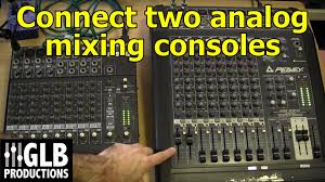 Mixing Table How To Connect Two Analog Mixing Consoles Together Youtube