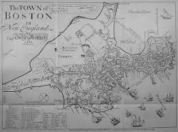 Narrowest House In Boston Mhs Collections Online Map Of The Town Of Boston 1648 Drawn By