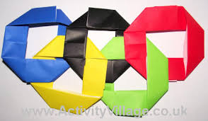 colored olympic rings images Origami olympic rings craft for kids jpg