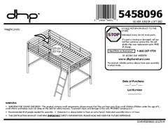 Metal Loft Bed With Desk Assembly Instructions Junior Metal Loft Bed Multiple Colors Walmart Com