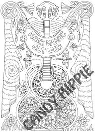make music candyhippie coloring pages