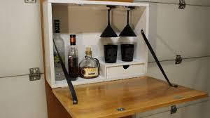 Wall Bar Cabinet Make A Wall Mounted Bar With Pictures