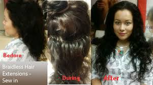 full sew in weave with no hair out hair extensions weaves