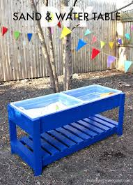 white sand and water play table diy projects