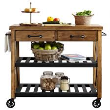 Movable Island For Kitchen by Furniture Black Movable Kitchen Island With Oak Top And Shelves