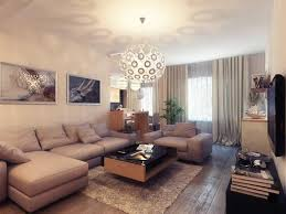 decorating awesome apartment living room design with white