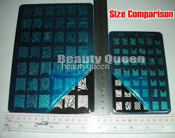 big designs 9 style xxl nail art stamping plate stamp image