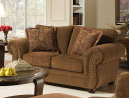 fancy simmons verona chocolate chenille sofa 36 living room sofa