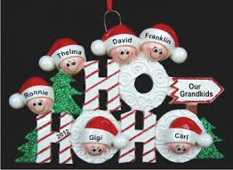 grandparent christmas ornaments ho ho ho family 6 grandkids personalized christmas