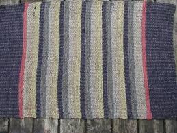 Rag Rugs For Kitchen Primitive Antique Cotton Rag Rug Vintage Kitchen Or Door Mat