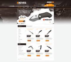 website template 45721 knives shop knife custom website template