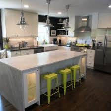 Rectangular Kitchen Ideas Interior Absolute Black Honed Granite With Wood Kitchen Island