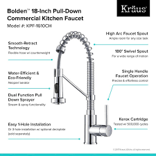 kitchen faucet plumbing kraus bolden series single handle pull out kitchen faucet