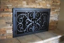 Fireplace Stuff - centuries ago iron fireplace doors for our outdated fireplace
