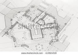 blue prints house architecture blueprints house plans stock photo 487077766
