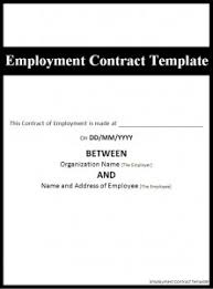 employment contract template word excel pdf