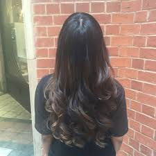 Hair Extension Birmingham by Caramel Balayage Running Through Natural Gorgeous Asian Hair