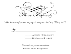 rsvp cards for wedding wedding rsvp cards by 123print