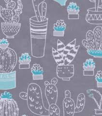 snuggle flannel fabric 42 white cactus on gray joann