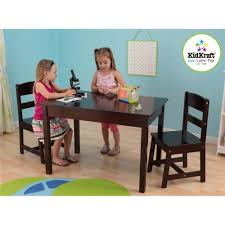 kidkraft rectangle table and 2 chair set espresso youtube