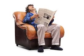 An Armchair Young Man Sleeping On An Armchair Stock Photo Image 73332330