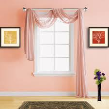 Sheer Coral Curtains Warm Home Designs Pink Coral Sheer Curtains Window Scarf