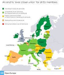 Map Of France And Surrounding Countries by Eu Reform Heat Map Open Europe