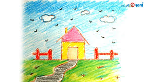 simple nature drawing for kids kids crayons landscapes drawings