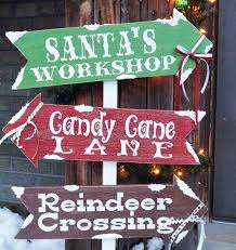 santa s diy outdoor sign outdoor signs outdoor