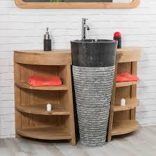 meuble sous vasque sur mesure meuble sous vasque simple vasque en bois teck massif vasque