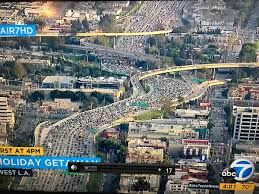 los angeles traffic you re better walking thanksgiving