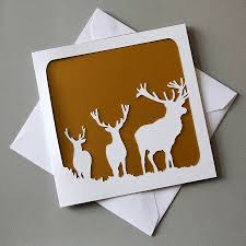 stags christmas card silhouettes christmas cards and cards